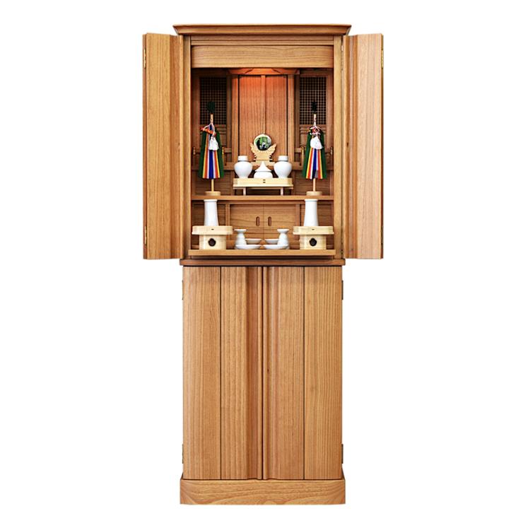 祖霊舎(神徒壇) 仏壇 宗像 50号 桐 神具付 床置型