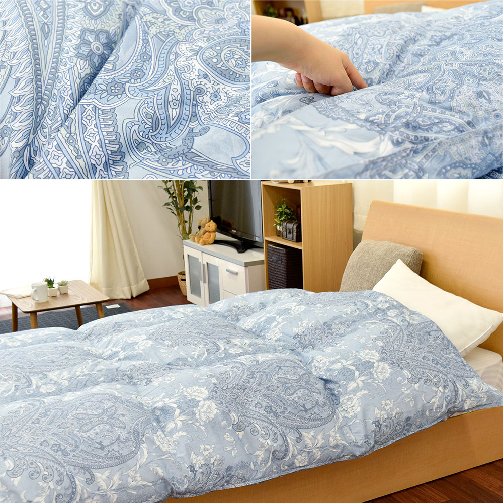 Goose 90% is 1.2 kg Ukraine produced silver goose down comforters, feather duvet Nishikawa domestic 90% 390 dp mount fit child 2-layer quilt Polzin antibacterial deodorant feather futon single single long ( 150 x 210 cm ) thick quilts I