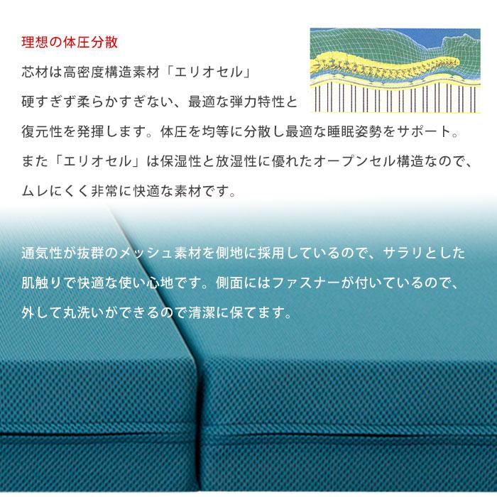 马尼弗莱克斯网翼床垫蓝色马尼弗莱克斯三栏式女王日本限量版 MESHWING