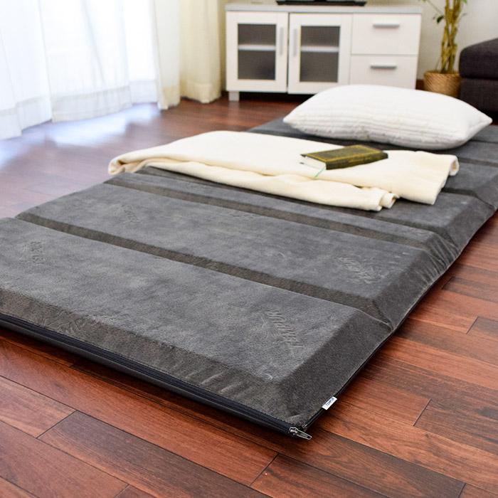 TEMPUR memory foam mattress フトンデラックス single size ( 95 × 195 × 7 cm: gray ) mattresses and mats /matress/FUTON DX / mattress / 敷きぶとん