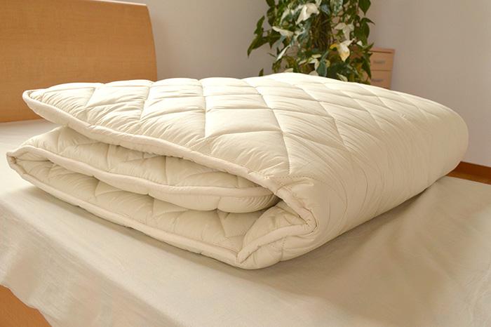 Domestic wool mixed antibacterial anti-Dani double cotton using solid cotton mattress long ( 140 × 210 cm: natural ) futon mattress / kneeling / 敷きぶとん / paving / 敷ぶとん Pan futons / futon / しきぶとん