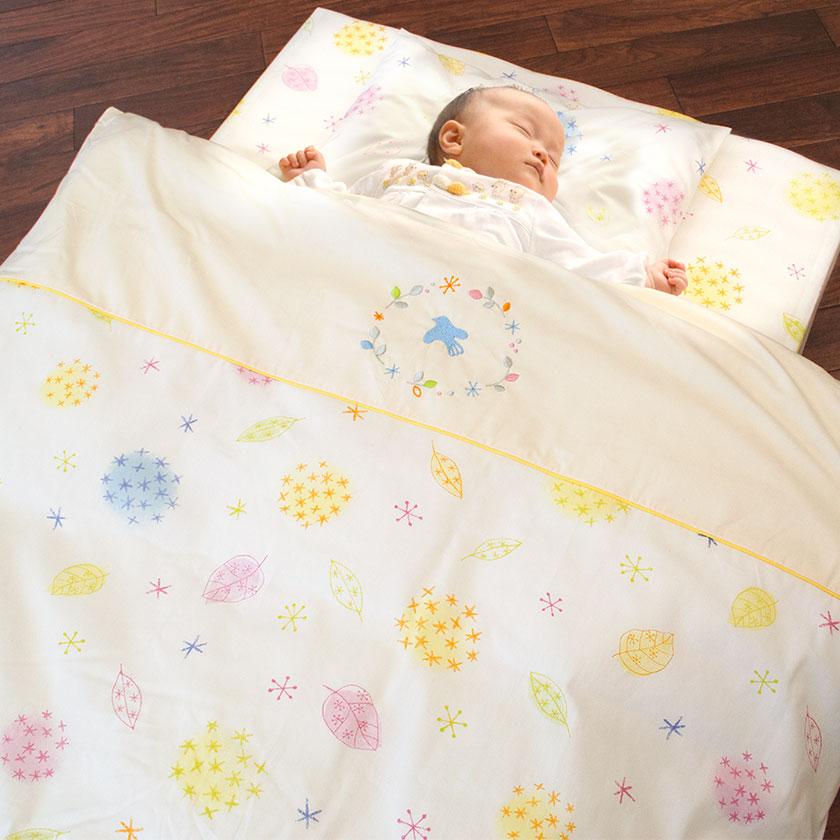 Product Made In Nishikawa Baby Futon Set Rose Radical Japan Washable Seven Points