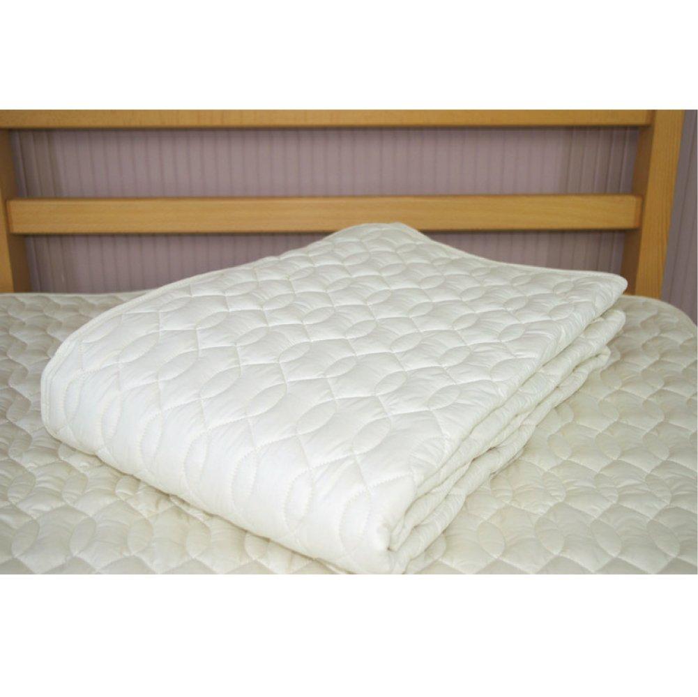 【西川リビング】洗えるベッドパッド ウール100%(日本製) ダブルサイズ 140X200cm 西川寝具 ウールベッドパッド 09832 00031