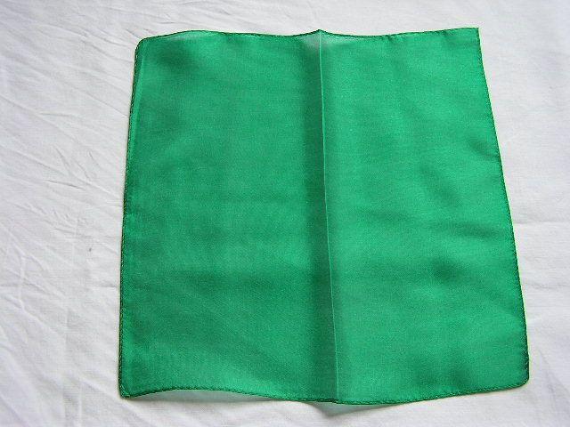 【マジック用】45cmハンカチ☆緑(シルク)!