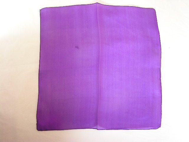 【マジック用】45cmハンカチ☆紫色(シルク)!