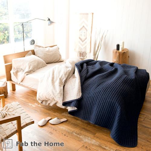 西川チェーン賞連続受賞★Fab the Home~Light denim ライトデニム~ ベッドスプレッド 200×260cm ベッドカバー ソファカバー こたつ上掛け