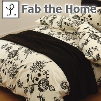 Fab the Home エイジア コンフォーターカバー ダブル チャコール【ギフトラッピング無料】【futonyasan】