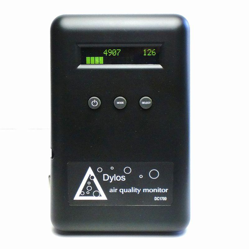 空気汚染 濃度 測定器 DC1700 米国製 Air Quality Monitor バッテリー内蔵 PM2.5 PM0.5