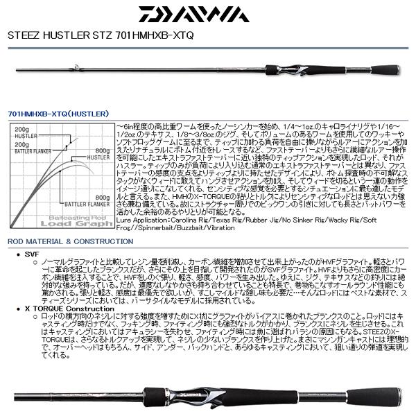 Daiwa(ダイワ)/STEEZ(スティーズ)STZ 701HMHXB-XTQ【送料無料】【ブラックバス】【バスロッド】