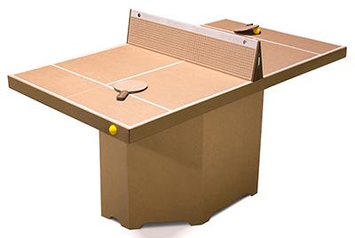 Tenino テニーノ ブラウン組み立てテーブルテニスKickpack(キックパック)【送料無料】