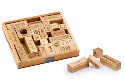 【100%天然素材の積み木や木製玩具】ピース&ラブ・ブロック<29ピース>対象年齢:3歳~Wooden Story<ウドゥン・ストーリー>【楽ギフ_メッセ入力】