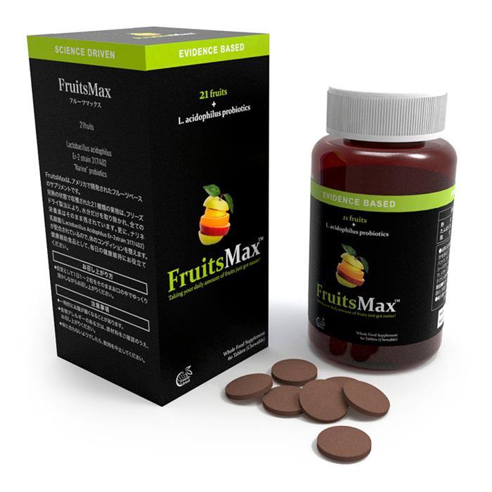 フルーツマックス 60粒 健康 サプリメント 栄養補給 ナリネ菌 FruitsMax