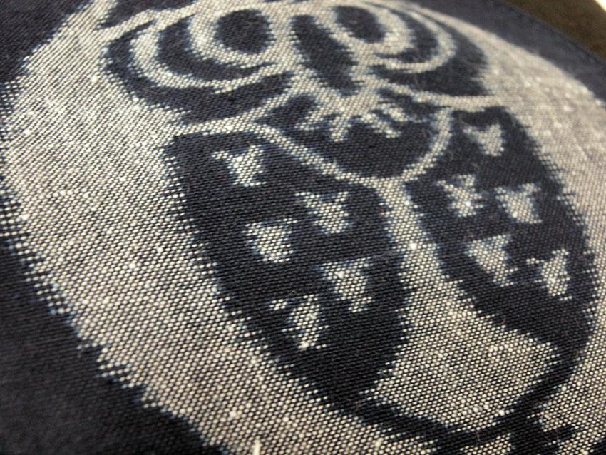 在帆布背包和睦柄里克手提包母亲节赠品以及久留米絣藍暦猫头鹰柄的生日礼物,也作为人缘的生日赠品女性礼物手提包老太太奶奶