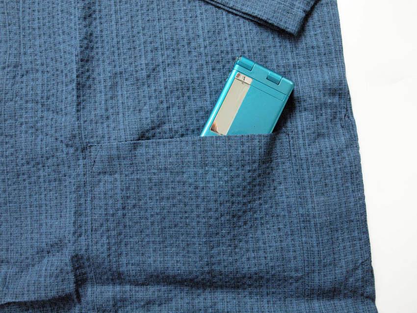 作務衣 夏 麻混で涼しい メンズ さむえ 綿麻しじら織り 男性用 M L LL 3L 4L