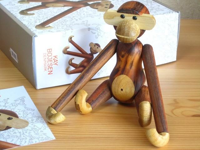 【送料無料】カイ・ボイスン Kay Bojesen モンキー Monkey 猿 小 Sサイズ チーク 木製人形 Wood Toy S size デンマーク 北欧 動物 木製 お祝い プレゼント