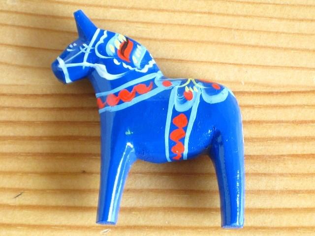 Granic Gannas Dalarna Horse Dalahose Blue And Magnet Magnet Wooden Toy Scandinavian Gadgets Natural Wood Wooden Horse Handmade
