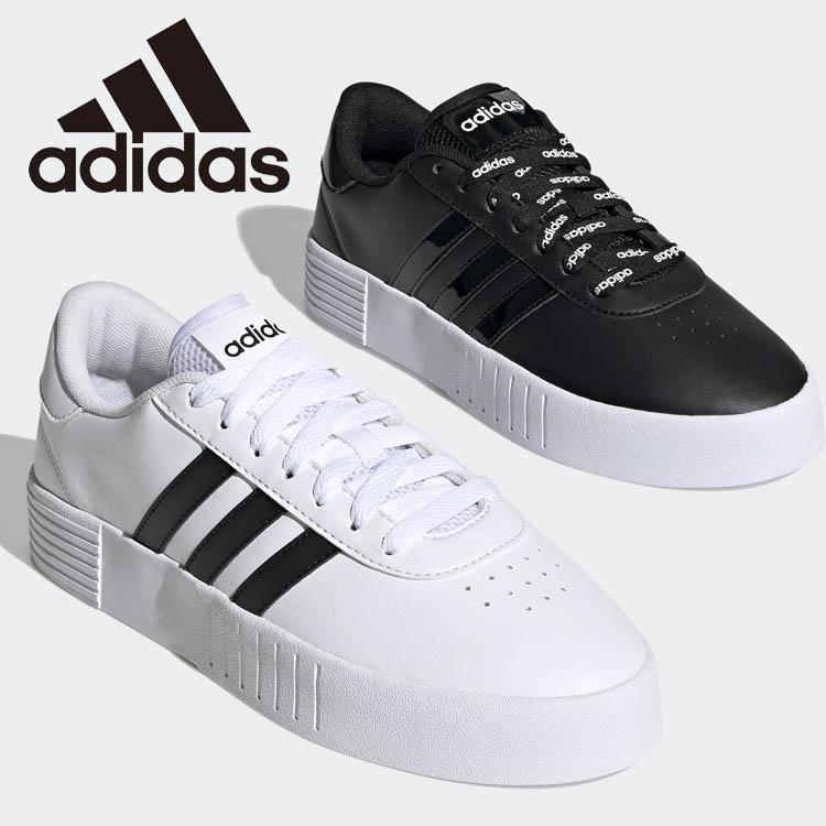 アディダス 厚底スニーカー COURT 国内即発送 BOLD W FY7795 レディースシューズ 白靴 FY9993 ブラック 通学 新作 黒靴 商品 ホワイト 白スニーカー