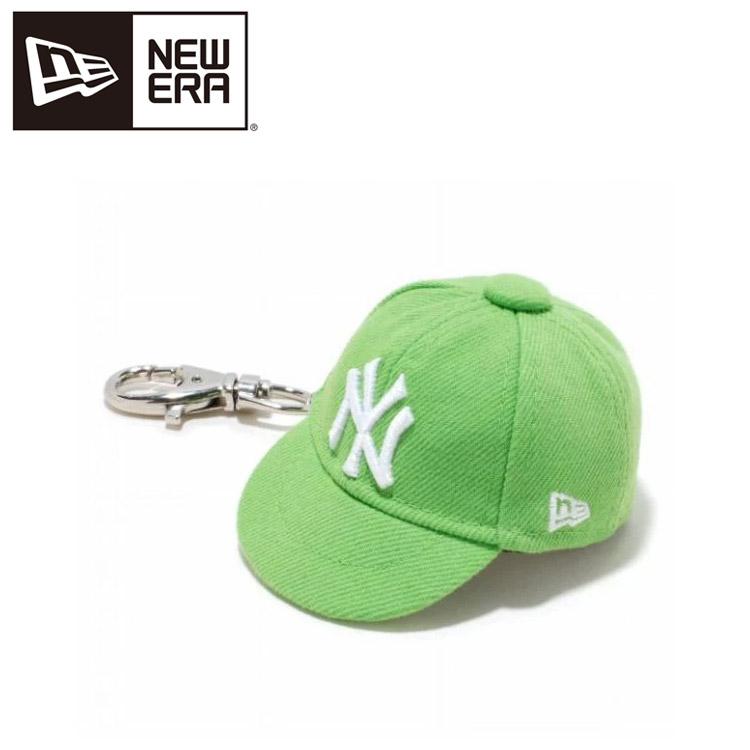 舗 メール便送料無料 ニューエラ キャップキーホルダー ニューヨーク ヤンキース ホワイト × ライムグリーン 11117962 即出荷
