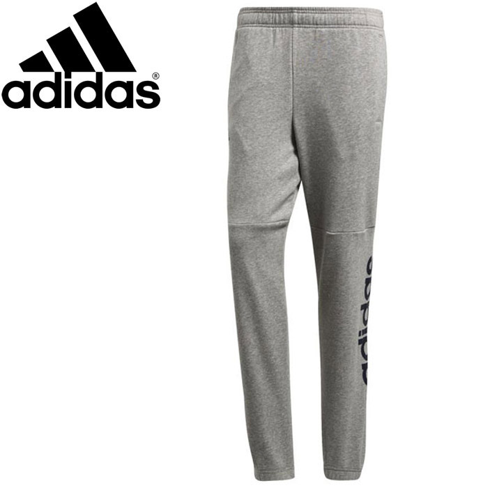 Adidas M ESSENTIALS linear logo sweat shirt tapered pants (fleece pile) men's DSZ75 BQ9092