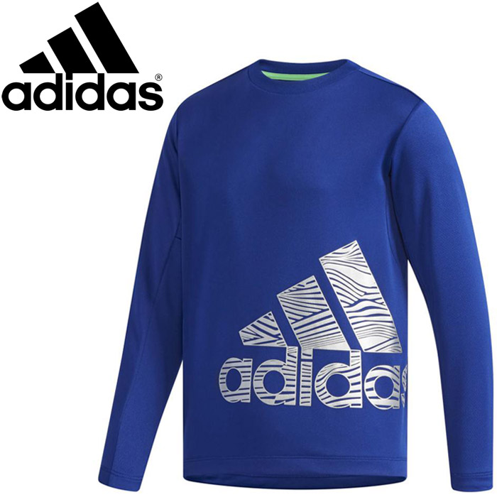 Boy's Youth adidas Climalite Long Sleeve Shirt