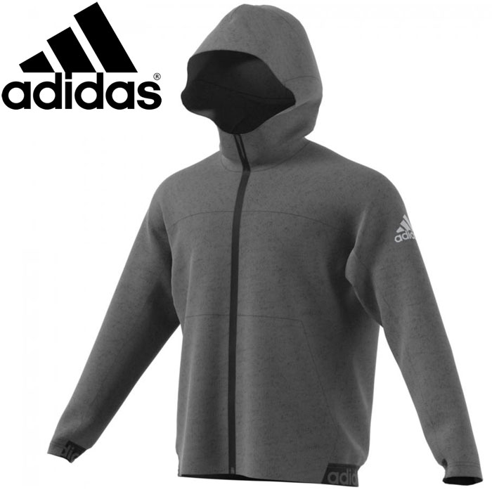 adidas knit fleece jacket