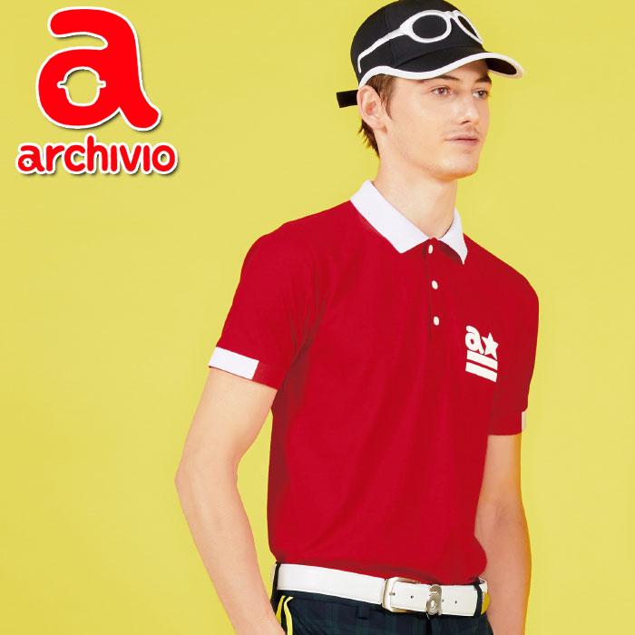 【あす楽対応】アルチビオ archivio ゴルフ ポロシャツ 半袖 A769304 メンズ 2018春夏