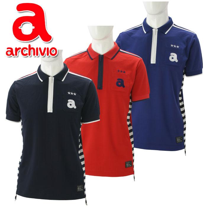 【あす楽対応】アルチビオ archivio ゴルフ ポロシャツ 半袖 A769305 メンズ 2018春夏