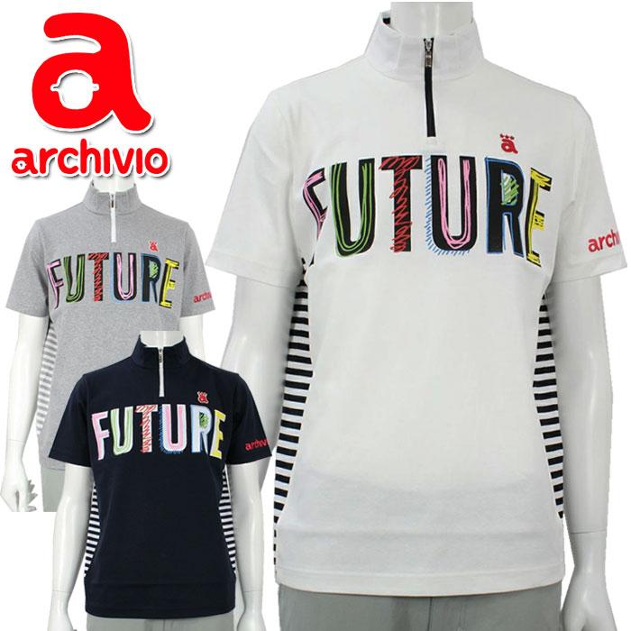 アルチビオ archivio ゴルフウェア 半袖プルオーバー ハーフジップシャツ A929902 メンズ 2019年秋冬