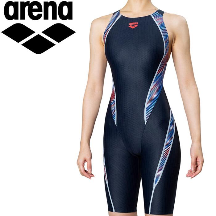 アリーナ 水泳 セイフリーバックスパッツ 着やストラップ 競泳 水着 レディス ARN-9075W-TRC 《返品不可》