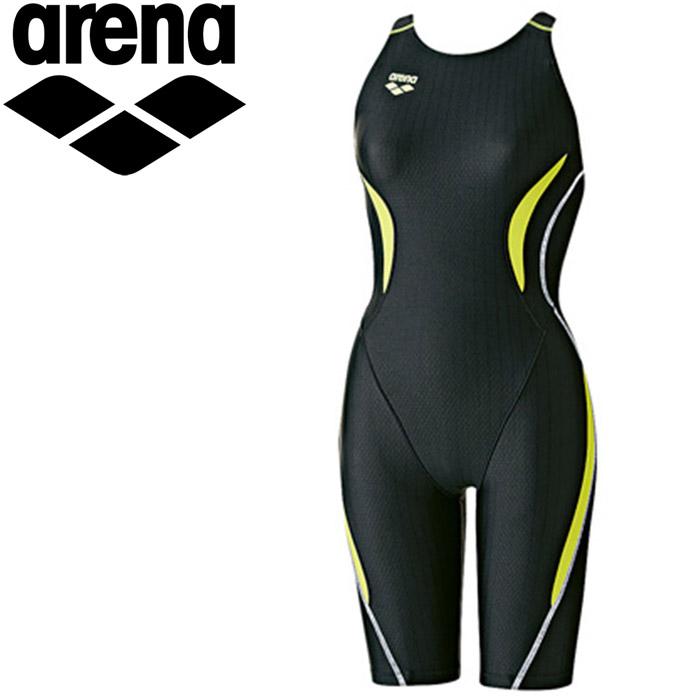 アリーナ 水泳 セイフリーバックスパッツ 着やストラップ 水着 レディース ARN7050WE-BKKG 《返品不可》