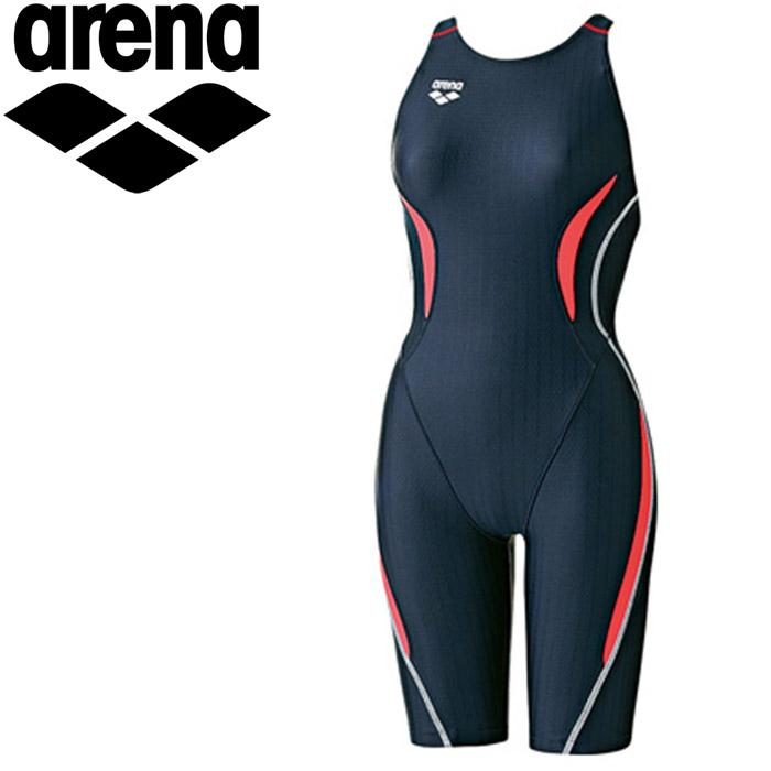 アリーナ 水泳 セイフリーバックスパッツ 着やストラップ 水着 レディース ARN7050WE-NVBR 《返品不可》