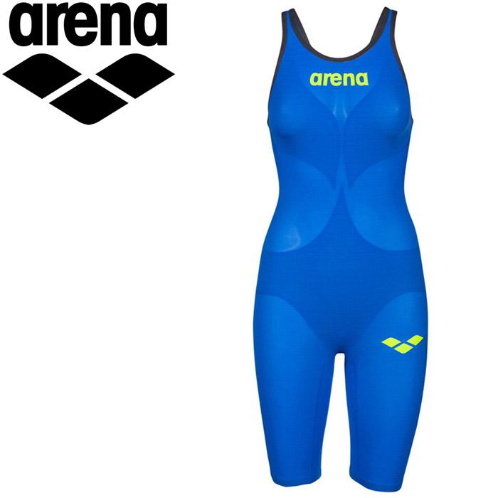 アリーナ 水泳 ハーフスパッツオープンバック 競泳 水着 レディス FAR-9504W-BUGY 《返品不可》