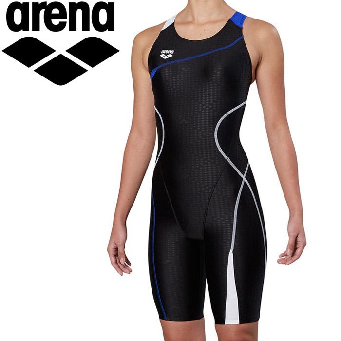 アリーナ 水泳 サークルバックスパッツ ぴったりパッド 着やストラップ フィットネス 水着 レディス FLA-9900W-BKWT 《返品不可》