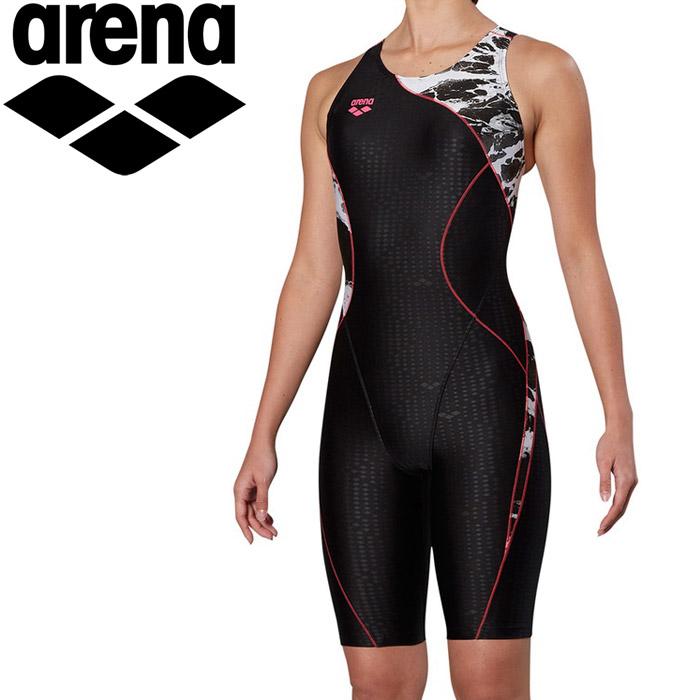 アリーナ 水泳 サークルバックスパッツ ぴったりパッド 着やストラップ フィットネス 水着 レディス FLA-9912W-PNK 《返品不可》