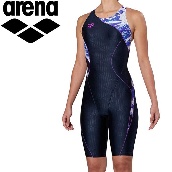 アリーナ 水泳 サークルバックスパッツ ぴったりパッド 着やストラップ フィットネス 水着 レディス FLA-9912W-PPL 《返品不可》