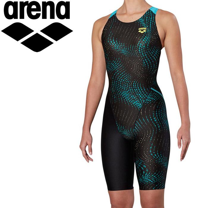 アリーナ 水泳 サークルバックスパッツ ひっかけフィットパッド 着やストラップ フィットネス 水着 レディス FLA-9913W-BKGR 《返品不可》