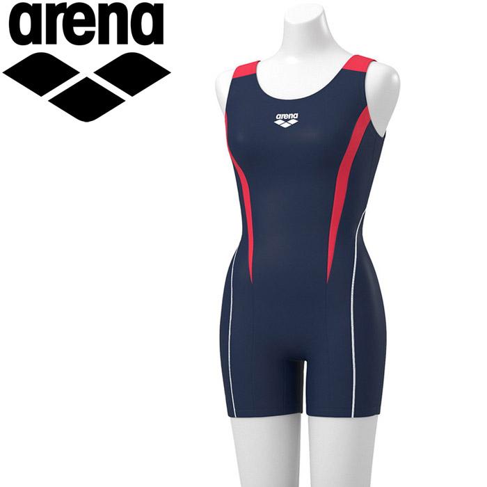 アリーナ 水泳 オールインワン 差し込みフィットパッド フィットネス 水着 レディス FLA-9930W-NYRD 《返品不可》