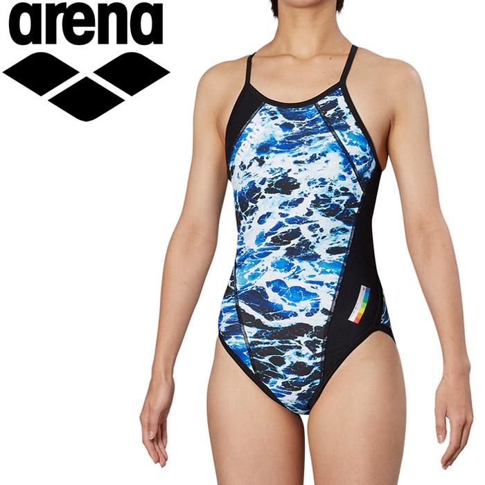 アリーナ 水泳 メッシュフライバック トレーニング 水着 ガールズ ジュニア FSA-9618WJ-BLU 《返品不可》