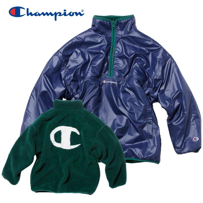 チャンピオン リバーシブル フリースプルオーバー レディース CW-Q609-370 19FW クリアランスセール