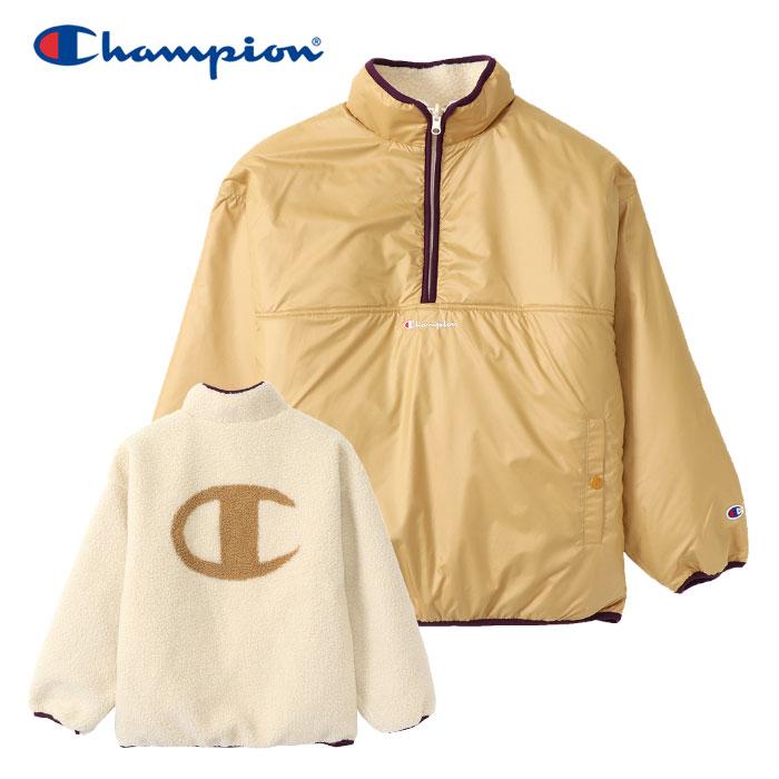 チャンピオン リバーシブル フリースプルオーバー レディース CW-Q609-780 19FW クリアランスセール
