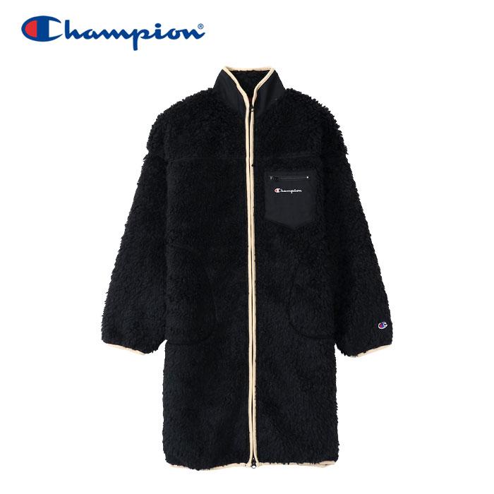 【ラスト1点セール】チャンピオン ボアフリースロングジャケット レディース CW-Q612-090 19FW クリアランスセール