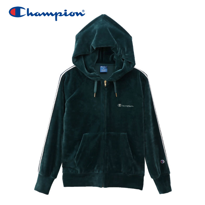 チャンピオン ジップフードジャケット ベロア レディース CW-QS104-470 19FW