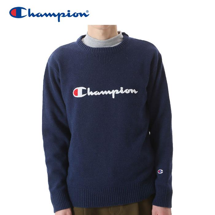 クリアランスセール30%OFF!チャンピオン ニット クルーネック ゴルフ C3-NSA01-370 メンズ 18FW
