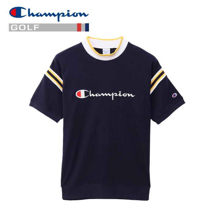 チャンピオン モックネック 半袖Tシャツ ゴルフ C3-PG301-370 メンズ 19SS