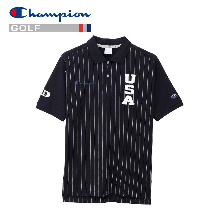 【2点までメール便送料無料】チャンピオン ポロシャツ ゴルフ C3-PG316-370 メンズ 19SS