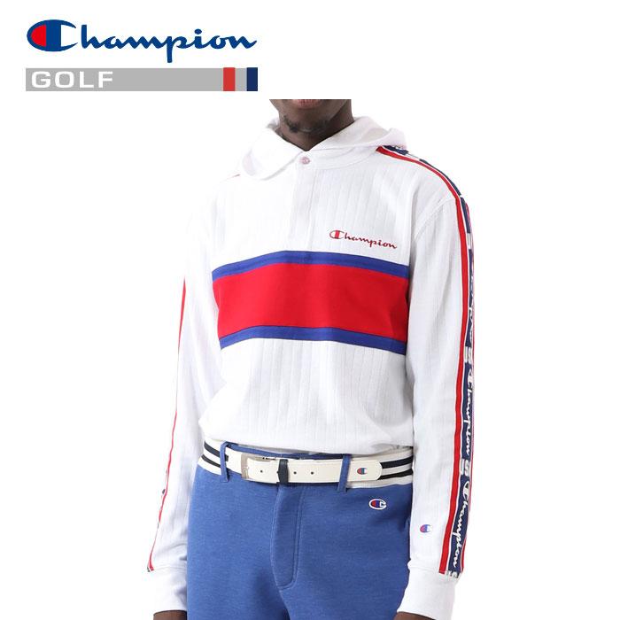 チャンピオン ゴルフ ロングスリーブフードTシャツ C3-RG403-010 メンズ 2020 春夏
