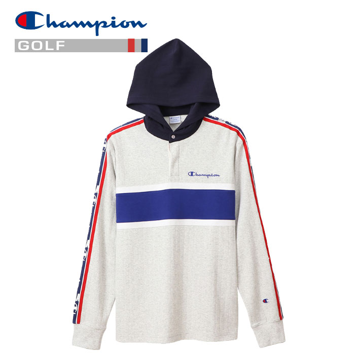 チャンピオン ゴルフ ロングスリーブフードTシャツ C3-RG403-070 メンズ 2020 春夏