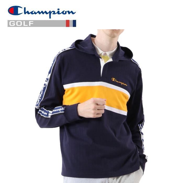 チャンピオン ゴルフ ロングスリーブフードTシャツ C3-RG403-370 メンズ 2020 春夏