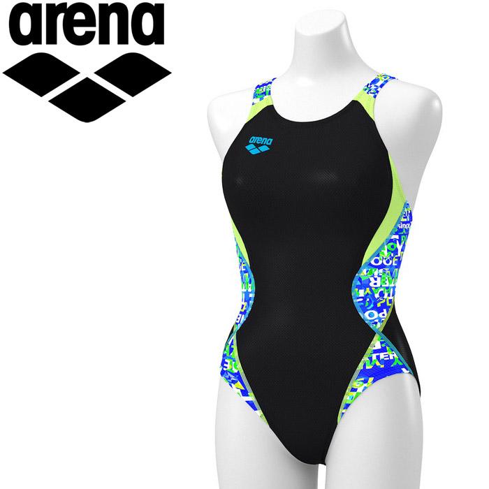 アリーナ 水泳 セイフリーバック(着やストラップ) レディス ARN-0065W-BKBU