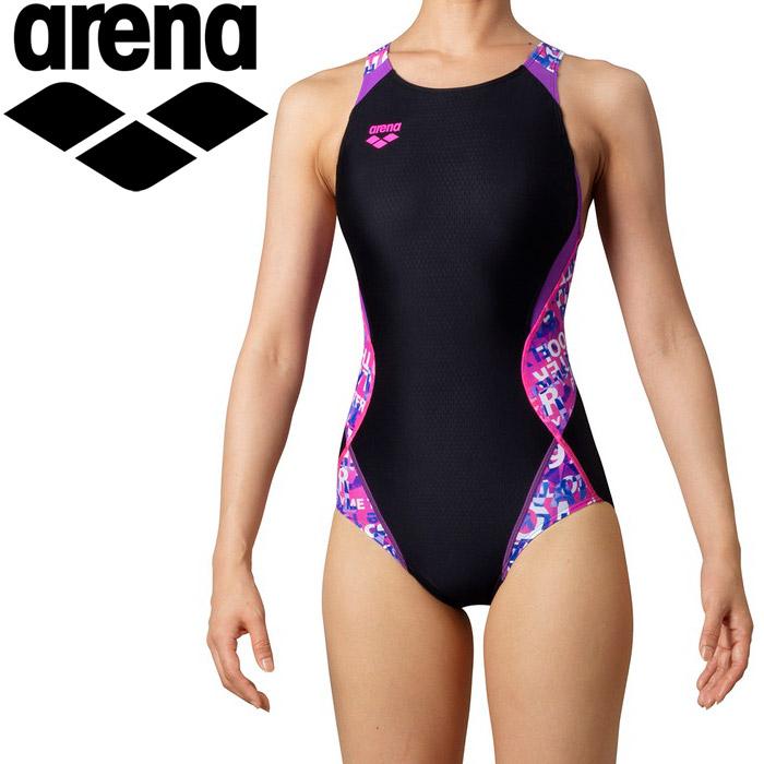 アリーナ 水泳 セイフリーバック(着やストラップ) レディス ARN-0065W-BKPK
